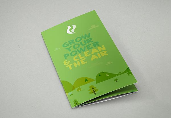 identity Tree  Event flyer green energy brochure SKY logo colour palette Signage