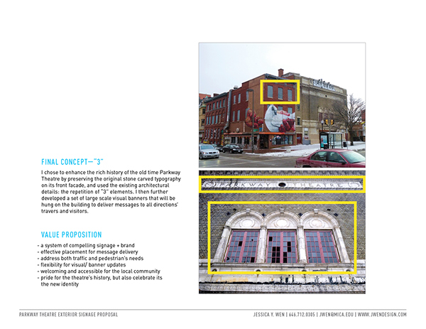 Signage environmental Baltimore maryland Theatre public Maryland Film Festival banners Station North Arts movie Event Environmental Graphic Design EGD exterior