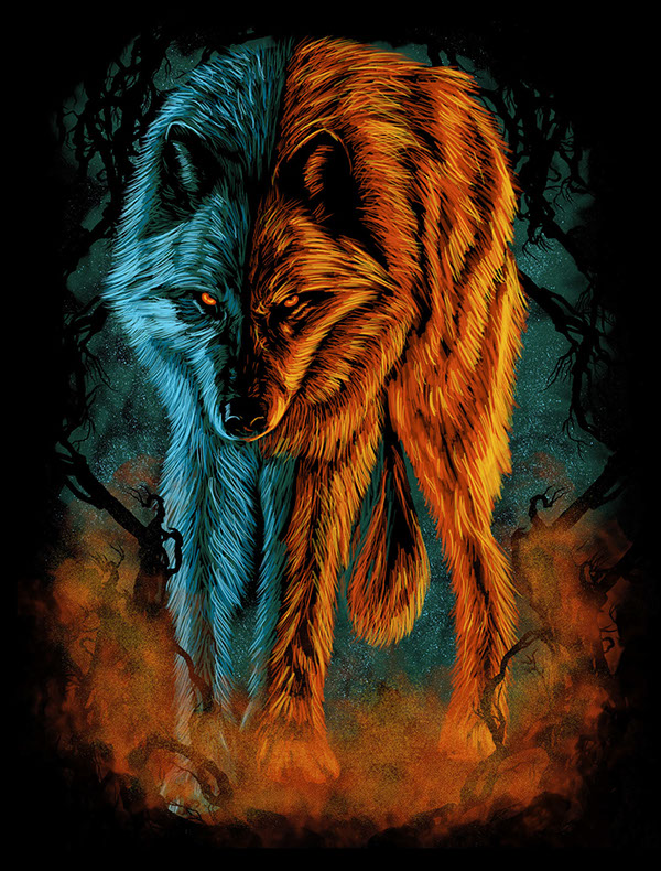 Fire And Ice Wolf on Behance