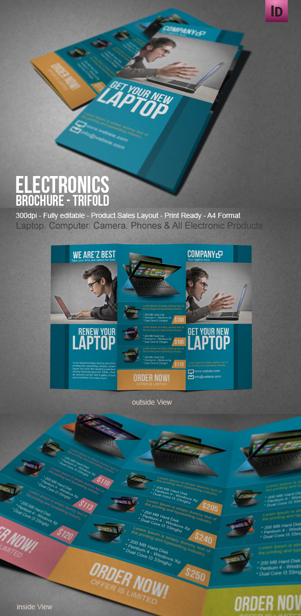 Electronic Sales Brochure | Modern Design On Behance