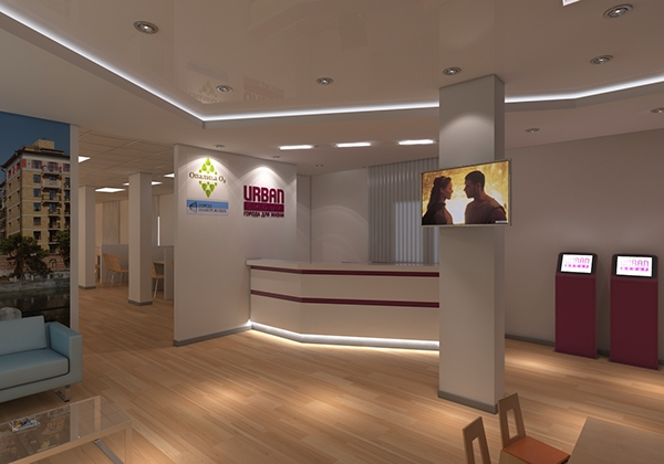 Sales office interior on behance for Sales office design