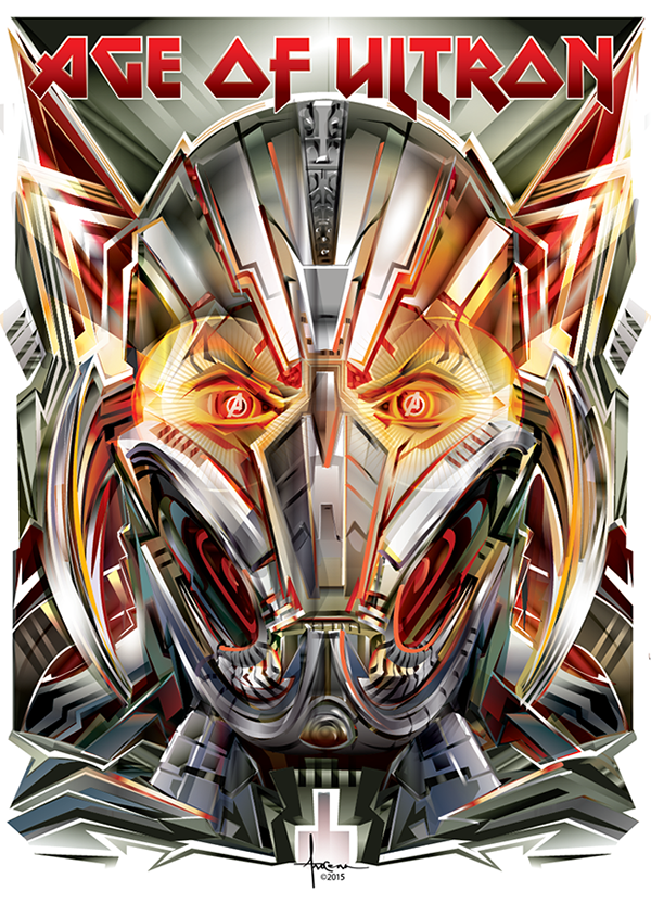 AVNEGERS : AGE OF ULTRON- Vector tribute by Orlando Arocena