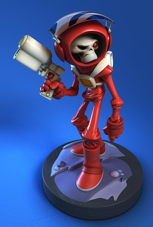 3d Character Design Behance : Skullchaser d sculpt on behance