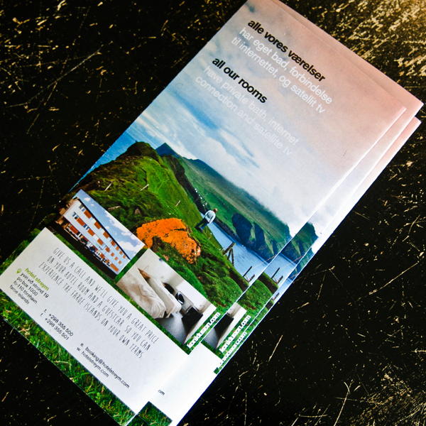 hotel  hotel streym  faroe islands  Faroes  brochure  m65  tourism   Travel  vacation  folder