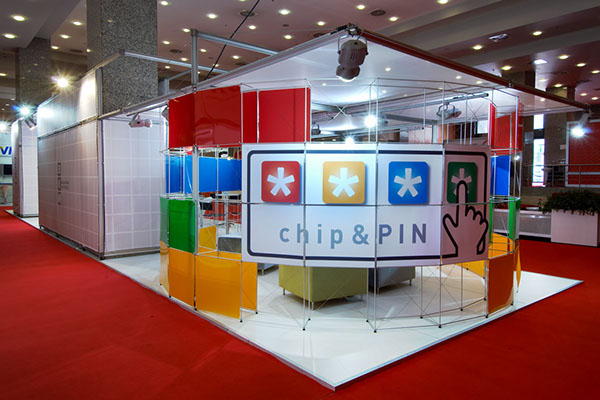 Exhibition Stand Projects : Bkm chip pin exhibition stand cardist fair on pantone