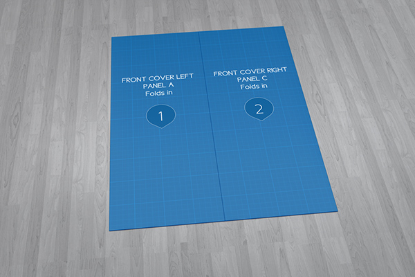 Show Your Brochure With Style! Create A Realistic Gate Fold Brochure Mock Up  In Few Seconds. These PSD Files Uses The Smart Object Feature, ...