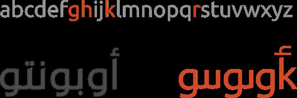 The Ubuntu Arabic Logo & Font on Behance