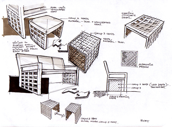 Furniture palace curacao for Furniture design sketches