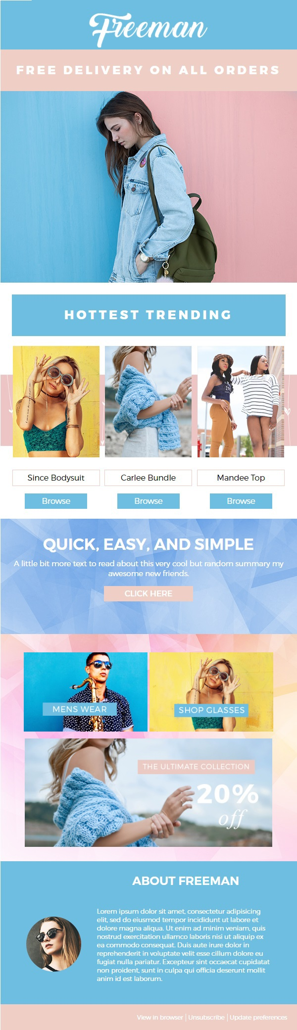 Freeman Fashion Mailchimp Email Newsletter Template On Student Show