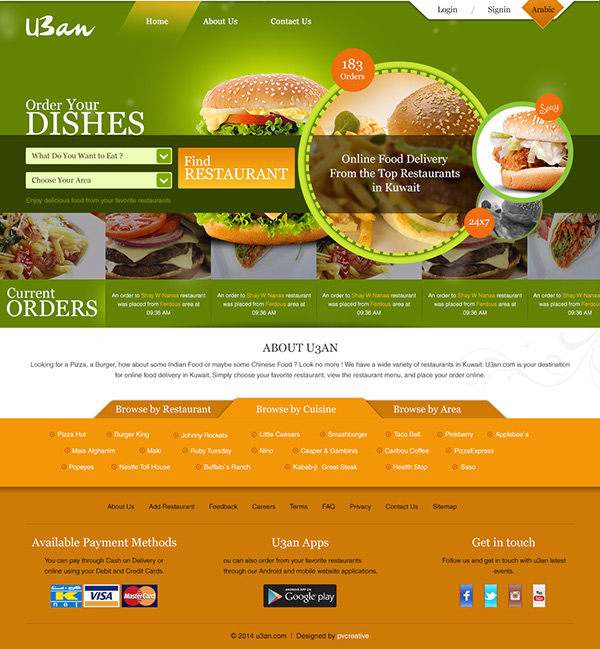 online food delivery website template on behance. Black Bedroom Furniture Sets. Home Design Ideas
