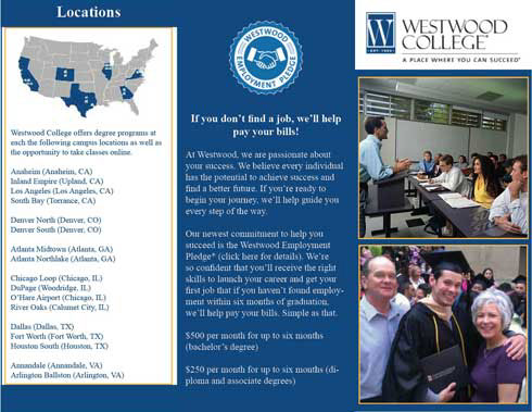 Westwood College Brochure on Student Show – College Brochure