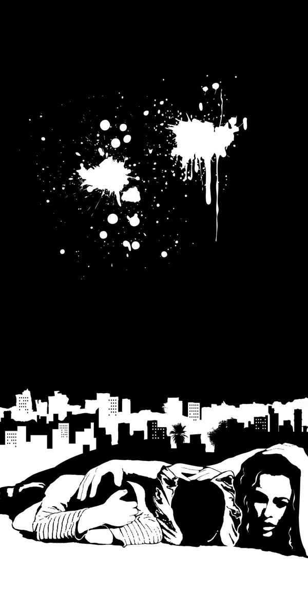 horror film noir israel White black