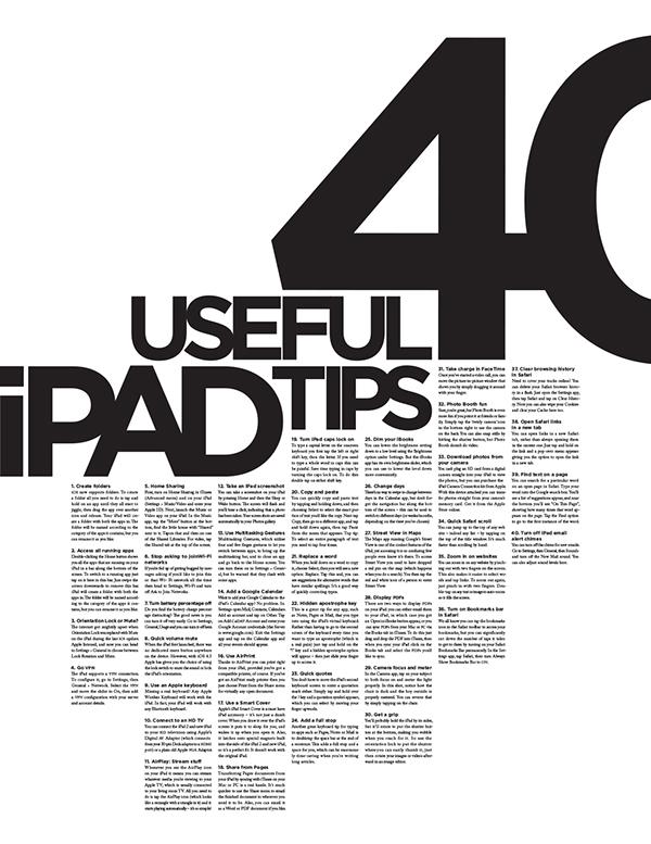 iPad  typography black  white  gotham  caslon  type