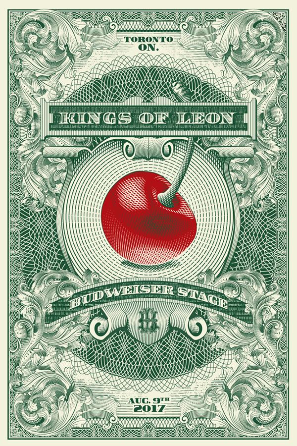 Kings Of Leon Toronto 2017 Poster On Behance