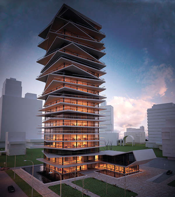 Office building concept on behance Concept buildings