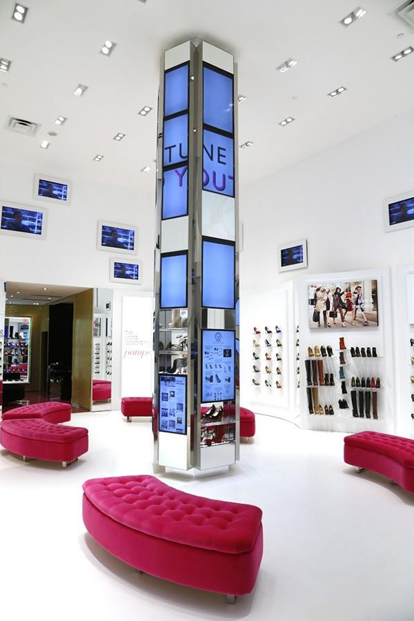 nine west flagship store interactive digital signage on behance
