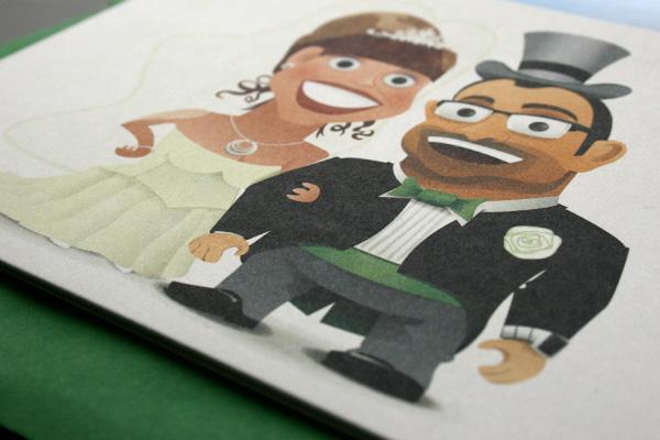 wedding invite Victorian