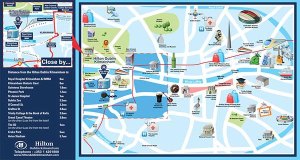 Hilton Dublin Kilmainham on Behance – Tourist Map Of Dublin