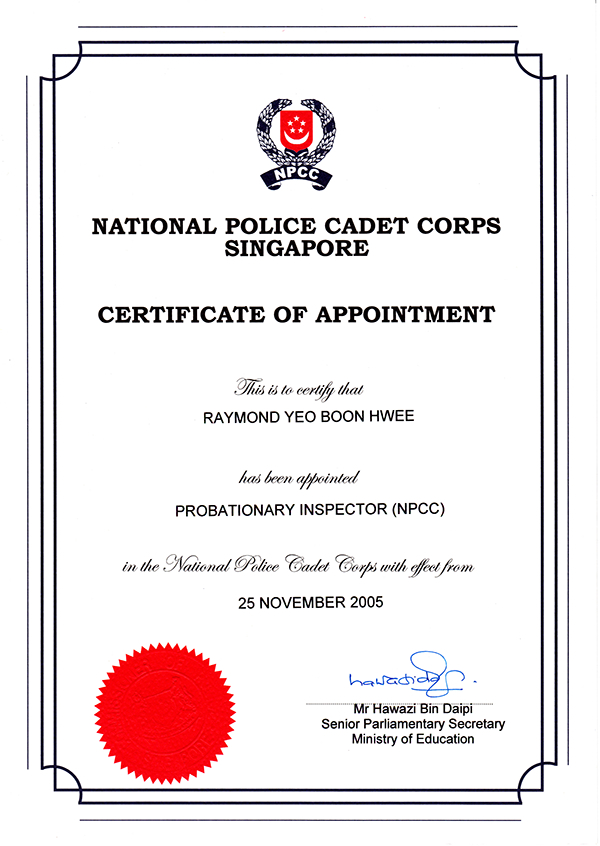assessment of npcc cadets for annual promotion  2008 on