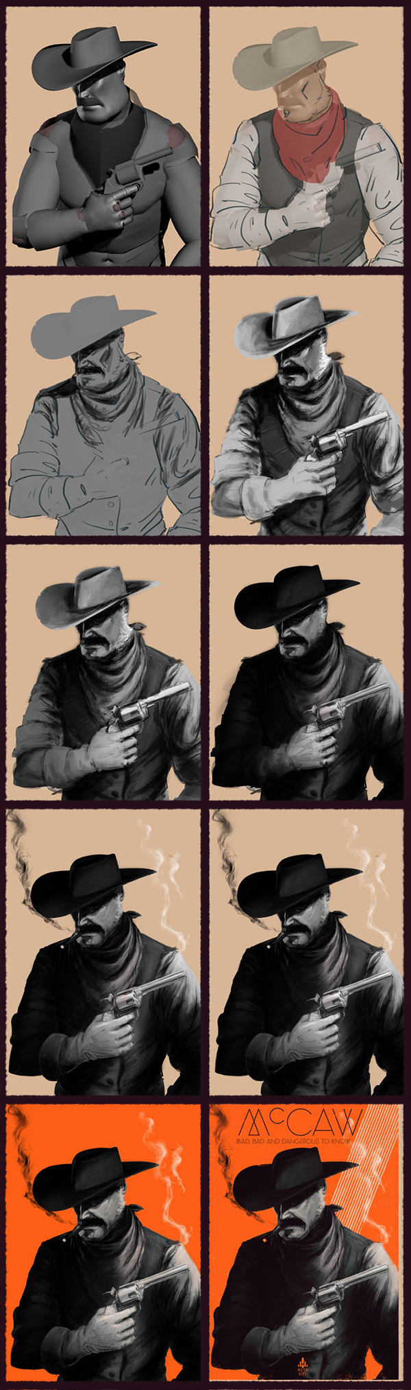 Moth City  graphic novel  comic McCaw cowboy tim gibson orange poster