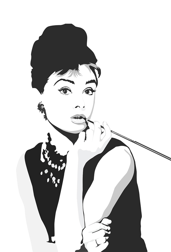 Audrey Hepburn Vector Graphic on CCS Portfolios