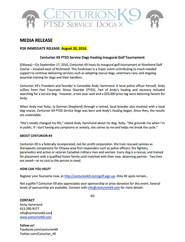 Sponroship letter press release