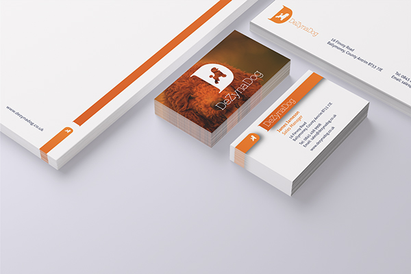 rebranding,Stationery,bussiness cards,dog,orange,blue,pets