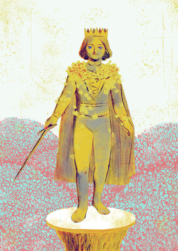 the happy prince 2 High above the city, on a tall column, stood the statue of the happy prince he was gilded all over with thin leaves of fine gold, for eyes he had two bright.