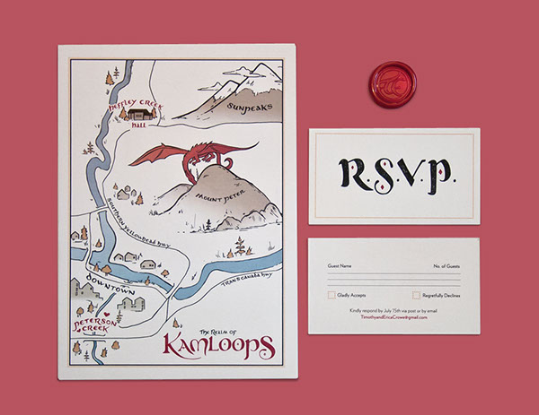 Medieval Wedding Invitation Wording: Medieval Wedding Invitations On Pantone Canvas Gallery
