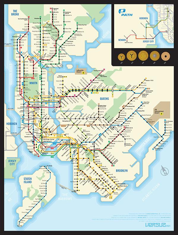 NYC/PATH Subway Map on AIGA Member Gallery