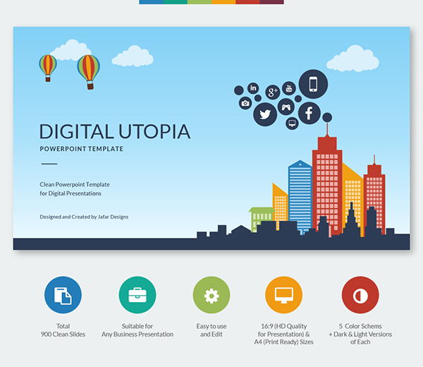 Digital Utopia Powerpoint Template On Behance