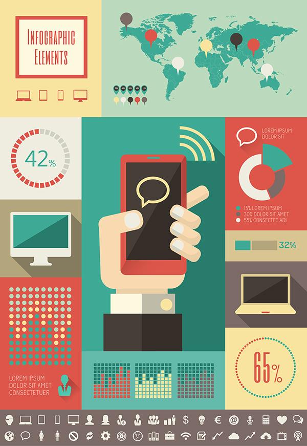Character Design Jobs Toronto : Technology infographics elements on behance
