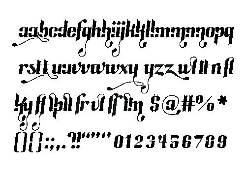 Typeface  type  font east west Display decorative hybrid hybrida Swashes Ligatures ligature oblique