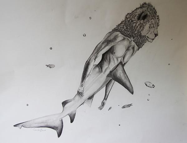 Shark hybrid drawing - photo#2