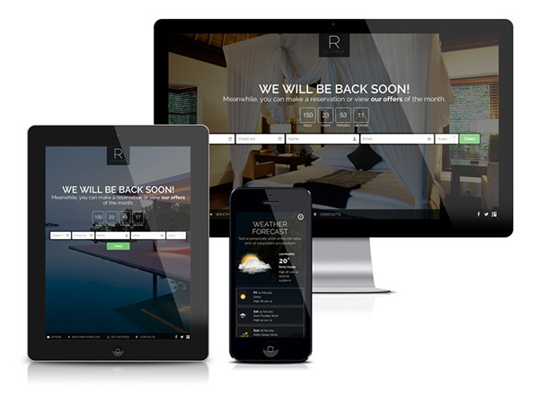accommodation coming soon accommodation site launch Booking hotel booking Form hotel check availability hotel coming soon hotel site launch reservation weather widget
