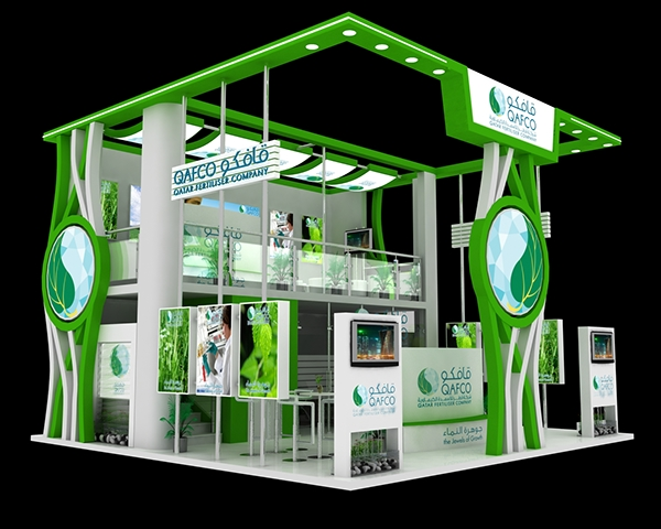 Exhibition Stall On Behance : Qafco exhibition stall designs on behance