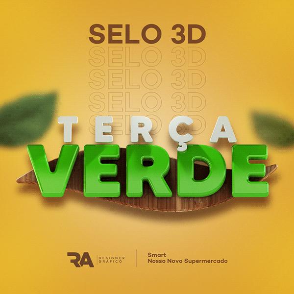 SELO 3D - TERÇA VERDE