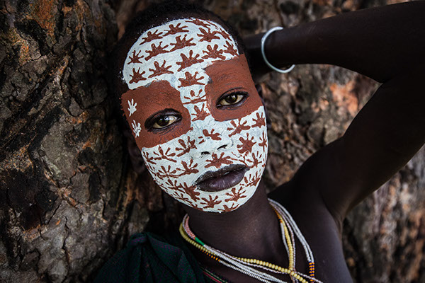 Women Must Paint Their Faces Red Africa