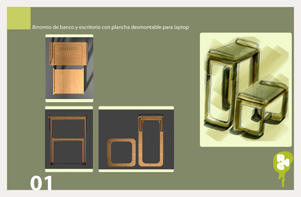 Mobiliario Para Computadora Portatil On Behance