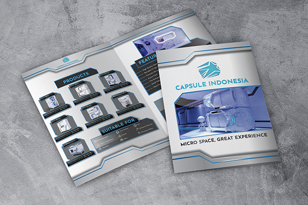 Capsule Indonesia's brochure or flyer that promotes Capsule Indonesia's products