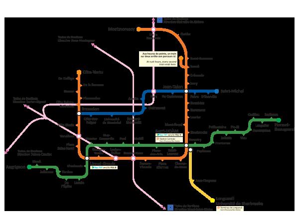 Montrela Subway Map.Montreal Metro Map On Behance