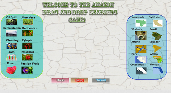 The amazon rainforest drag drop learning game on pantone canvas gallery in this is example below you can see how the drag drop works gumiabroncs Gallery