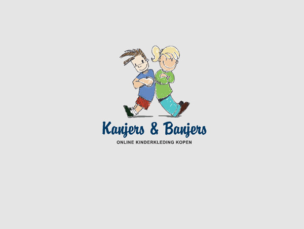 logo design webshop kids clothing kanjers amp banjers on