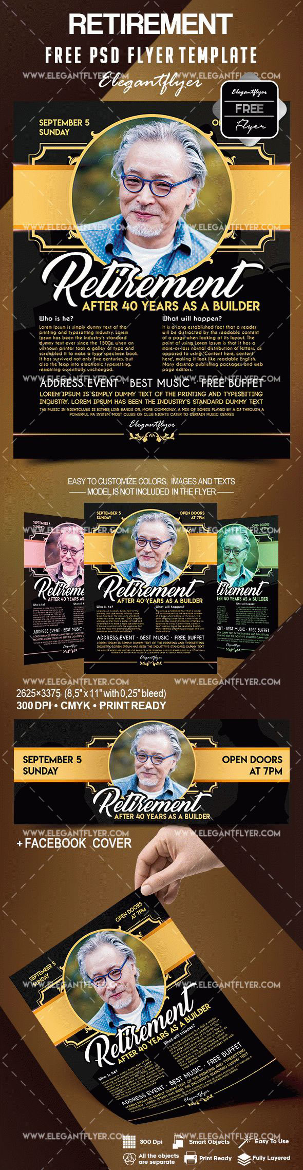 Retirement Flyer Template Free On Behance