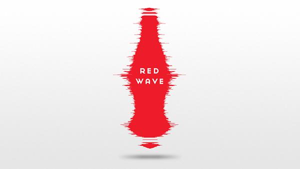 Coca Cola coke red soundwave bottle