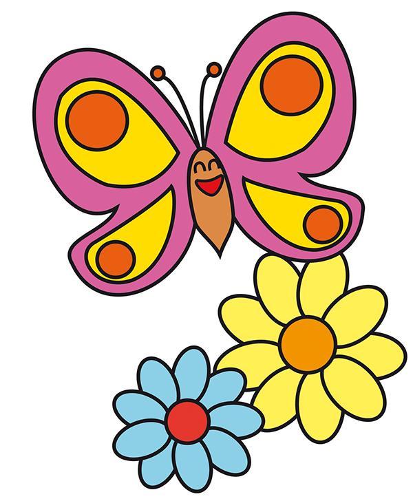 disegni per bambini colorati fare di una mosca