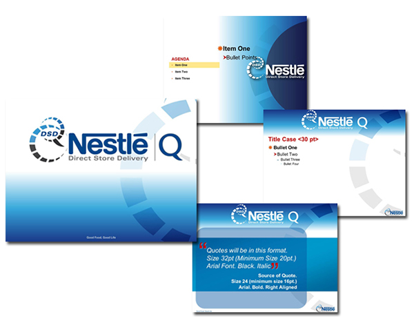 new nestlé subsidiary global brand creation on behance, Presentation templates