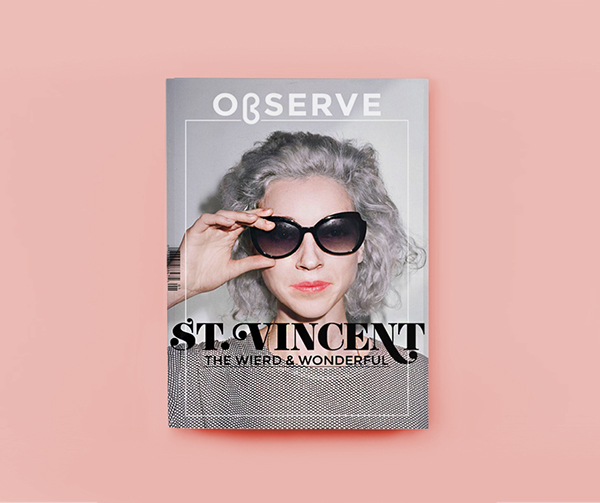St Vincent musician magazine mag Observe experimental InDesign Layout spread annie clark