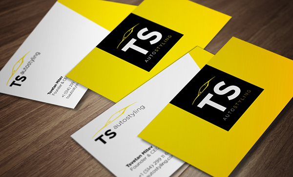 Logo And Business Card Design For Ts Auto Styling On Behance