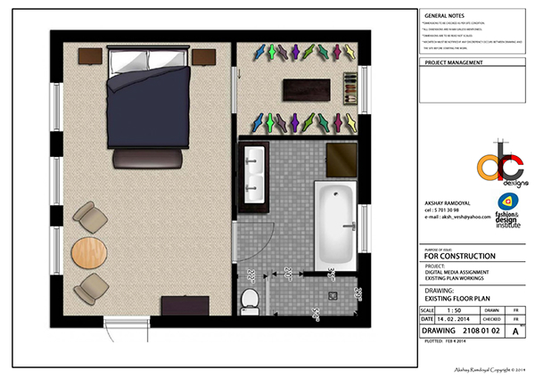 Master bedroom plan on behance Master bedroom plan dwg
